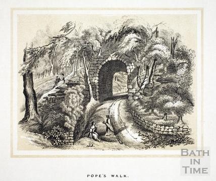 Pope's Walk, Widcombe 1853