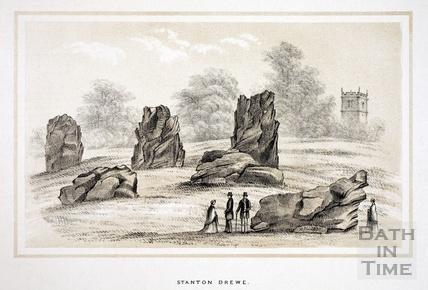 Stanton Drew standing stones 1853