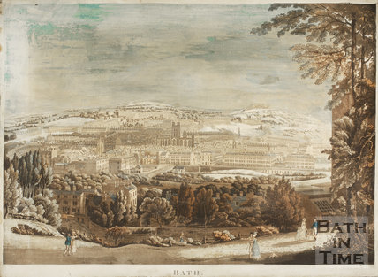 Bath from Beechen Cliff 1817