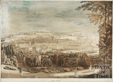 Bath from Beechen Cliff 1817