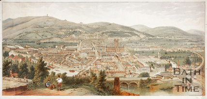 Bath from Beechen Cliff coloured view c.1875