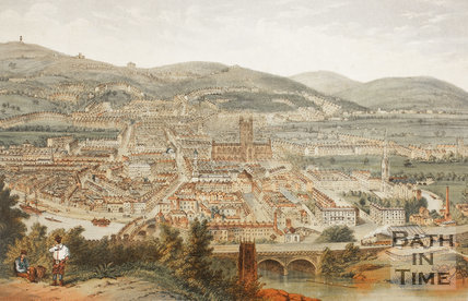 Bath from Beechen Cliff coloured view c.1875 - detail