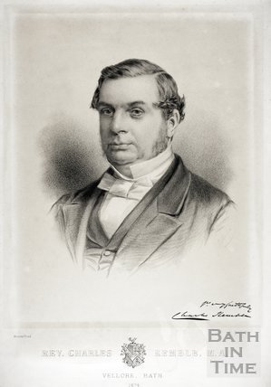 Portrait of Rev. Charles Kemble MA. Vellore, Bath 1874