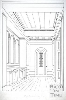 Ante Room, Ground Floor, Beckford's Tower, Lansdown, Bath 1828