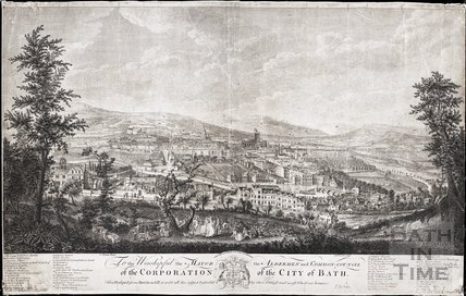 A South West Prospect of the City of Bath 1757
