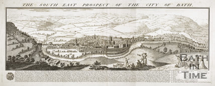 The South East Prospect of the City of Bath 1734