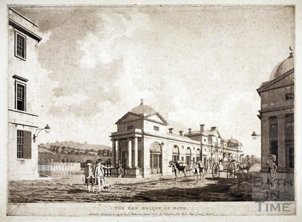 The New Bridge at Bath. Pulteney Bridge 1779