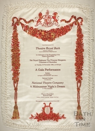 Silk Programme for a Gala Performance of A Midsummer Nights Dream 1982
