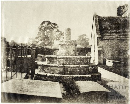 Churchyard cross, Newton St. Loe Church c.1850