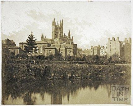 Bath Abbey from the River Avon, Bath c.1855