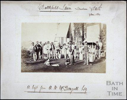Battlefield Lawn, Battlefields, Lansdown, Bath June 1869
