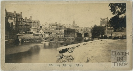 Pulteney Bridge, Bath c.1865
