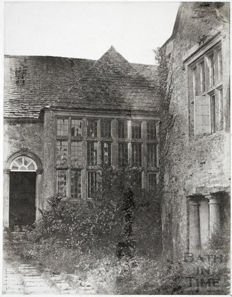 Jacobean windows, Cold Ashton Manor House c.1855