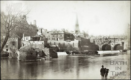 View of Weir and Pulteney Bridge, Bath c.1885