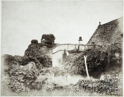 Farleigh Castle showing overgrown masonry c.1855