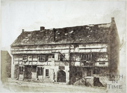 George Inn, Norton St Philip c.1858