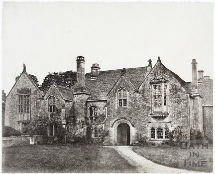North elevation, Great Chalfield Manor c.1858