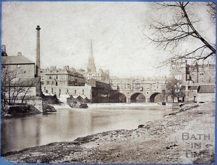 Pulteney Bridge and Town Mill, Bath c.1875