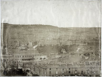 View of Bath from Beechen Cliff c.1855