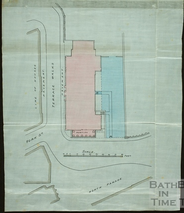 Plan of Old Institution Building, Terrace Walk