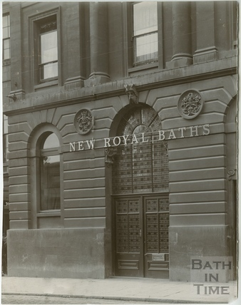Entrance by Grand Pump Room Hotel, New Royal Baths, Bath c.1900