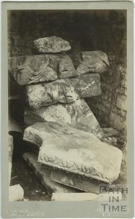 Roman Baths excavations, Bath c.1888