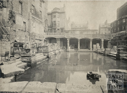 Great Roman Bath looking east, Bath c.1890