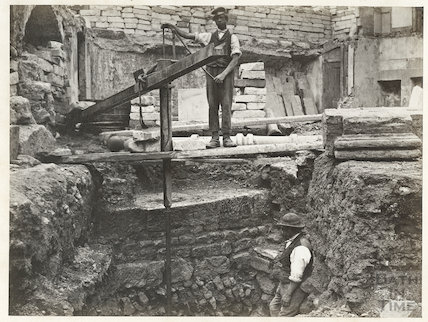 Excavations for the Prince Albert Wing of the United Hospital, Hot Bath Street, Bath c.1864