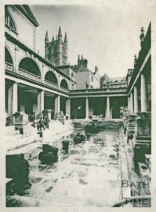 Roman Baths looking north east, Bath c.1900