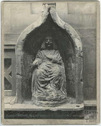 Statue of Bladud, King's Bath, Bath c.1920