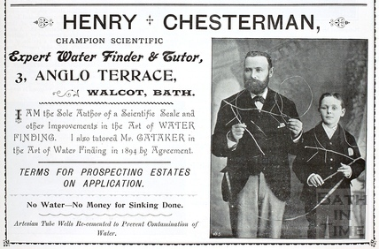 Henry Chesterman, Champion Scientific Expert Water Diviner and Tutor, Bath c.1890