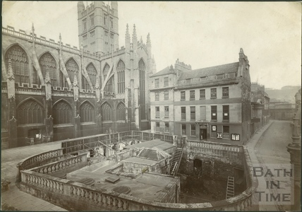 Abbey Church Yard construction works, Bath c.1922-4