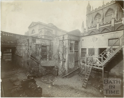 Roman Baths before restoration, Bath c.1892