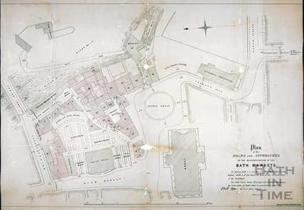 Plan of the Roads and Approaches in the Neighbourhood of the Bath Markets