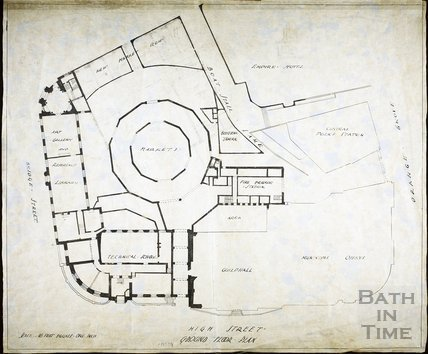 Plan of Redevelopment of the Guildhall, Bath c.1930