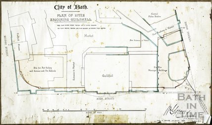 Plan of Sites Adjoining the Guildhall, Bath Proposed Extension 1891