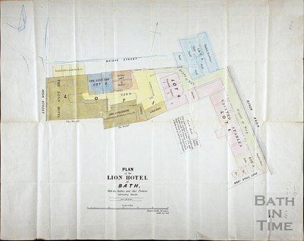 Plan of the White Lion Hotel, Bath 1852