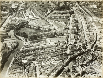 Pre-war aerial view of Bath c.1930