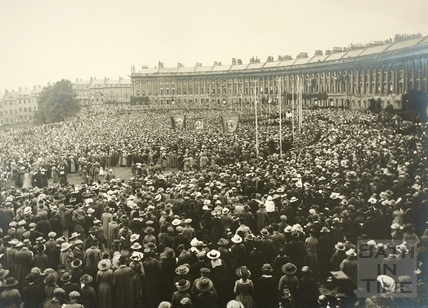 Celebration of Peace, Royal Crescent, Bath 1919