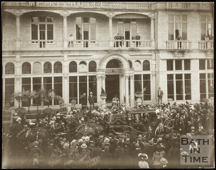 The Lord Mayor of London Leaving the Empire Hotel, Bath 1902