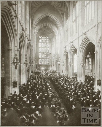 Memorial service for King Edward VII, Bath Abbey, Bath 1910