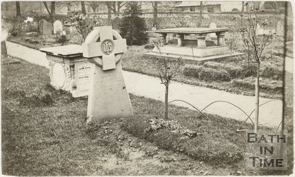 Fifth of five photographs showing churchyard, St. Michael's Church, Twerton, Bath c.1884