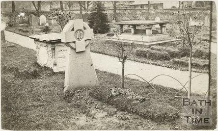 Fifth of five photographs showing churchyard, St. Michael's Church, Twerton, Bath c.1884