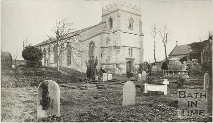 View of St. Michael's Church from north west, Twerton, Bath 1873