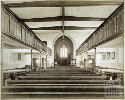 St. Michael's Church, Twerton, Bath c.1884