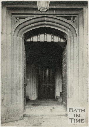 West doorway in tower before 1885 rebuilding, St. Michael's Church, Twerton, Bath