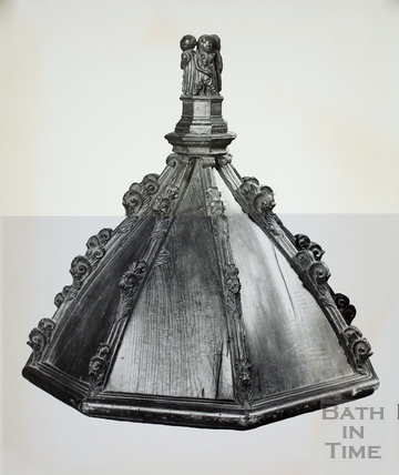 Cover of font given by Thomas Bellot, Bath Abbey, Bath