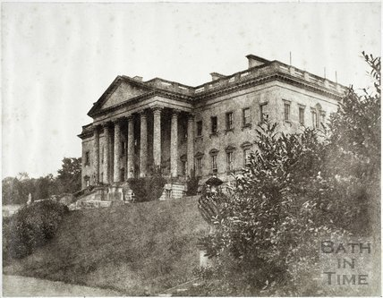 General view of main building, Prior Park, Bath c.1855