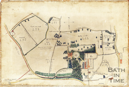 Plan of Weston Manor Estate, Bath, date unknown