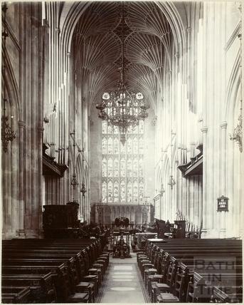 Interior of Bath Abbey, Bath c.1895